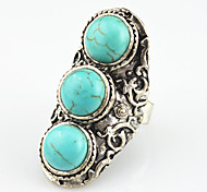 Vintage Antique Silver Amethyst Turquoise Tiger Stone Adjustable Free Size Ring(1PC)