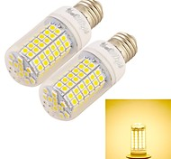 6W E26/E27 Bombillas LED de Mazorca T 96 SMD 5050 360 lm Blanco Cálido Decorativa AC 100-240 V 2 piezas