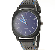 Men Fashion Design PU Band Quartz Watch