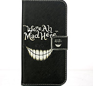 Smiling Face Pattern Card Stand Leather Case for Samsung Galaxy J1/J5