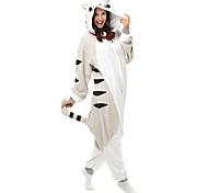 Kigurumi Pajamas Cat / Chi's Sweet Home/Cheese Cat Leotard/Onesie Halloween Animal Sleepwear Black Patchwork Polar Fleece Kigurumi Unisex