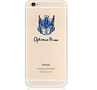 azul patrón avatar TPU soft phone transparente para el iphone 6 / 6s