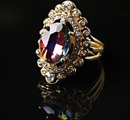 Rainbow Color Glass Ring for Women