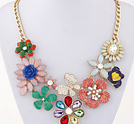 European Style Fashion Metal Temperament Bright Flowers Dancing Butterfly Necklace
