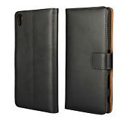 plaine portefeuille en cuir étui pour Sony Z5 premium / plus