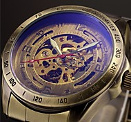 Men's Auto-Mechanical Bronze Hollow Steel Band Wrist Watch