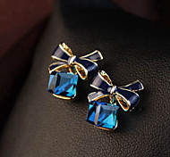 Top Sale Bohemia Vintage Wholesale Women Zircon Bowknot Stud Earring
