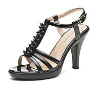 Aokang® Women's Beaded Cone Heel Sandals(black) - 132812086