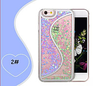 Creative Double Color Double Heart Type S Quicksand Cases for iPhone 5/5S(Assorted Colors)