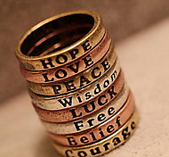 Ring Daily / Casual / Sports Jewelry Copper Women Statement Rings 1pc,7 Bronze