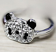 Women's Korean Shiny Panda Full Diamond Ring