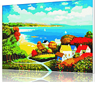 DIY Digital Oil Painting  Frame Family Fun Painting All By Myself  Colorful Autumn X5021