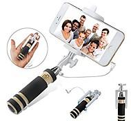vormor®mini monopiede bastone selfie estensibile con otturatore integrato remoto per iphone samsung, android
