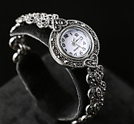 Women's Vintage Noble and Elegant Style  Plating Alloy Inlaid Crystal Electronic Watch 01