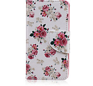 Pink Rose Pattern PU Leather Full Body Cover with Stand for Sony Xperia Z5 Compact