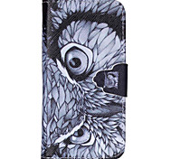 Owl Pattern PU Leather Full Body Cover with Stand for iPhone 6/iPhone 6S