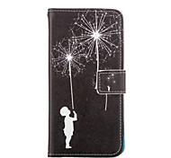 paardebloem patroon pu lederen full body case met kaartsleuven en staan Case voor Samsung Galaxy a5 / a7