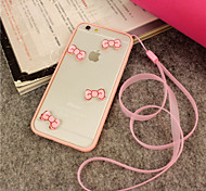 iFashion® Girl Pink Bowknot Lovely Hard And Soft Case for iPhone 6/6s