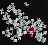 50 / bag of white flower with four petals Manicure resin resin accessories(1Set=50)