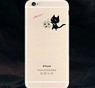 Black Cat Pattern TPU Soft Back Cover for iPhone 6S Plus/6 Plus
