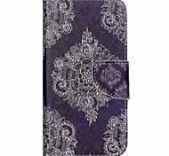 Lace Flower Painted PU Phone Case for Galaxy J5