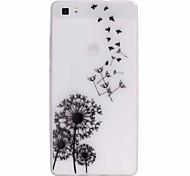 For Huawei Case Glow in the Dark / Ultra-thin Case Back Cover Case Dandelion Soft TPU Huawei
