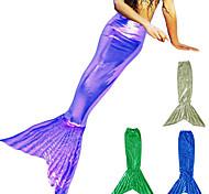 costume queue cosplay parti coloré brillant métallique sirène