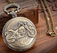 Unisex  Motorcycle Style  Alloy Analog Quartz Pocket Watch (Bronze)