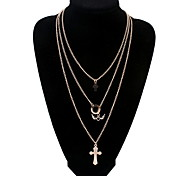 European And American Trade Jewelry Female Metal Multi-female Cross Angel Wings Necklace