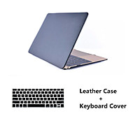 """simili-cuir de la mode surface supérieure Hard Shell Case couvercle + couvercle du clavier pour macbook air 11 """"/ 13"""""""