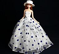 Barbie Doll - Abiti - Party & Sera - di Organza / Pizzo - Bianco / Nero - Abiti