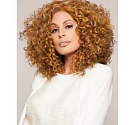 perucas sintéticas moda curto encaracolado da mulher loira cor marrom quente venda.