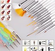 1set щеточка для ногтей Nail Art Дизайн Живопись расставить детализирующие ручка щетки связывать набор инструментов установлен ногтей