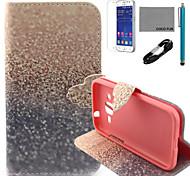 Коко fun® золотой узор sandsl PU кожаный чехол с V8 кабель USB, стилус и FLIM для Samsung Galaxy основной премьер g360