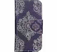 Lace Flower Painted PU Phone Case for ipod touch5/6