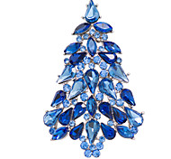 Christmas Tree Brooches Rhinstone Broach Pins Women Party Jewelry Accessories