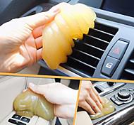 ziqiao voiture magie évent sortie d'air boîte de rangement porte du panneau de la poussière de poignée outil de nettoyage pour la colle