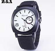 Men's Fashion Personality Silicone Quartz Analog Bracelet Military Watch(Assorted Colors)