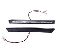 2*White 12 LED DRL Car Auto Truck Daytime Running Light Lamp High Power 5W