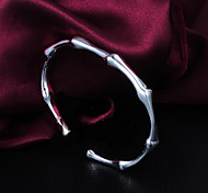 Fashion Noble Quality 925 Sterling Silver Simple Bangles Party Daily Bangles For Woman&Lady