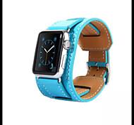 in pelle di lusso Fascia di polso sostituzione braccialetto cinturino cinturino con adattatore chiusura per la vigilanza della mela 42