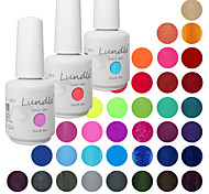 elegir 3 piezas lundle empapa de uv gelpolish uñas 141 de color gel de capa superior base de gel llevó gel de la manicura