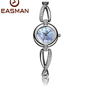 EASMAN Watch Brand Womens Watches Pearl Rhinestone Bracelet Watch Sapphire Glass Ladies Wrist Watch Cool Watches Unique Watches