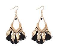 European Style Fashion Bohemian Tassel Leaves Earrings