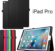Litchi Flip PU Leather Smart Magnetic Open Close Sleep Wake Up Case For iPad Pro