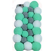 Hot Selling Colorful Pompon Mobile Phone Back Cover for iPhone 6 Plus/6S Plus