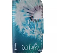 White Dandelion Painted PU Phone Case for iphone4/4S