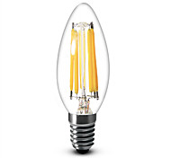 6W E12 Luci LED a candela C35 6 COB 600 lm Bianco caldo Intensità regolabile AC 110-130 V 1 pezzo