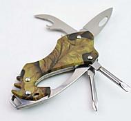 aço inoxidável moda / abridor de garrafas de alumínio de liga / porta-chaves / chave de fenda / facas multitools camping / ao ar livre