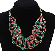 Bohemia Fashion Personality Multicolored Beads Braided Necklace